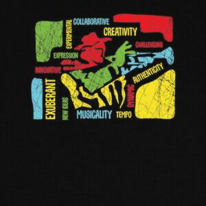 T-shirt trompetista creativo