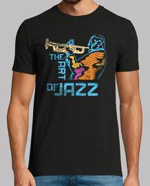 trompetista de jazz moderno y colorido