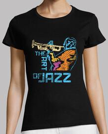 trompettiste jazz coloré moderne