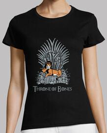 trône d'os - shirt femme