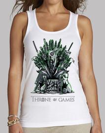 trono de juegos blanco mujer
