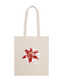 tropical flower shoulder bag