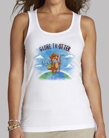 trotamundos - camiseta sin mangas para mujer