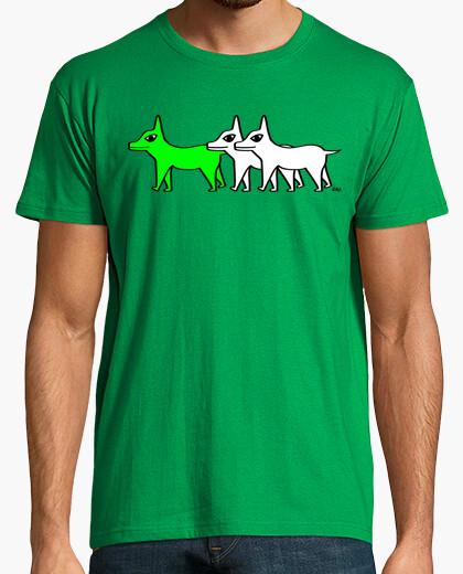Tee-shirt troupeau - chien vert