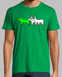 troupeau - chien vert