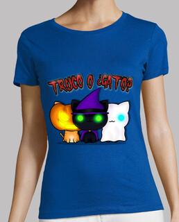 Truco o Gato. Camiseta manga corta.