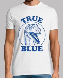 true blue jurásico rapaz mundo