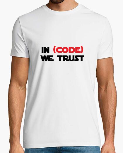 Tee-shirt Tshirt Geek - In code we trust
