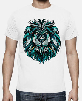 t-shirt hipster leone colori
