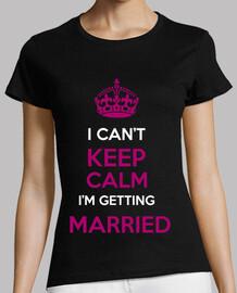 Tshirt, keep calm mariage