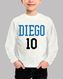 tshirt soccer - football - diego 10