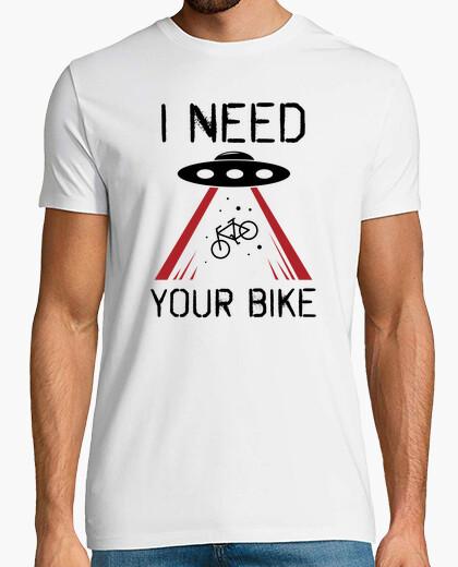 Tee-shirt tshirt vélo drôle abduction ufo