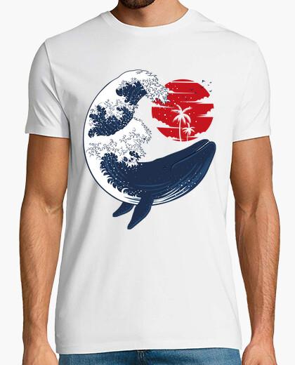 T-shirt tsunami di balene