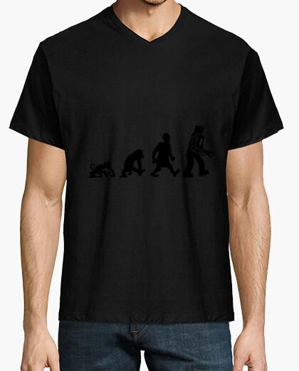 Camiseta ttbt evolución del robot sheldon