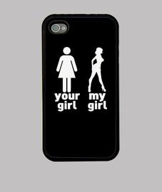 tu chica vs mi chica - negro