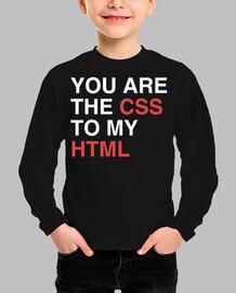 tu es le CSS à mon html