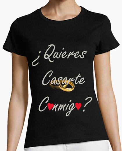 Tee-shirt tu veux m39épouser / m39épouser