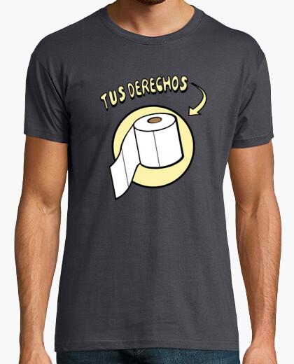 Camiseta Tus derechos papel del WC