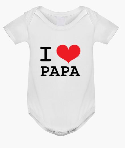 Abbigliamento bambino tuta del bebè : ti amo papà