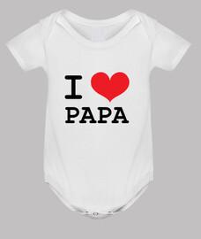 tuta del bebè : ti amo papà
