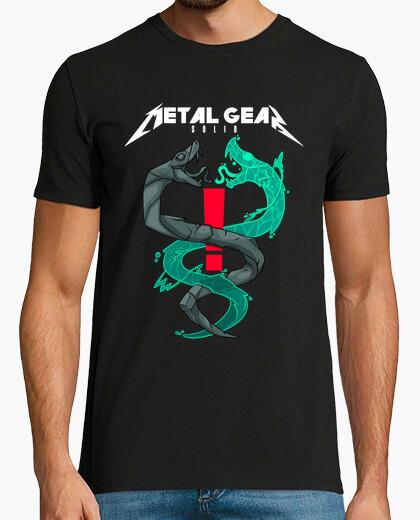 Twin snakes-metalgearsolid-metallica t-shirt