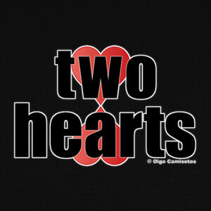 Tee-shirts TWO HEARTS black