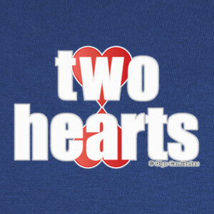 Tee-shirts TWO HEARTS white