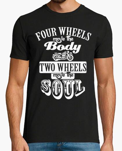 Camiseta Two wheels blanco