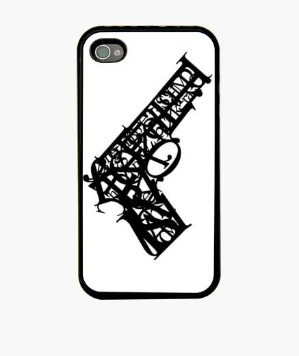 Typography death iphone cases
