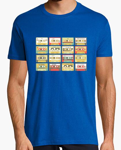 Camiseta U2 cassettes. Hombre, manga corta, azul royal, calidad extra