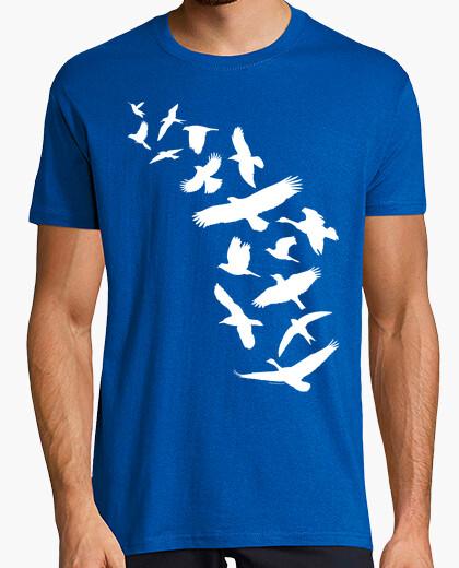 T-shirt uccelli che volano - bianco