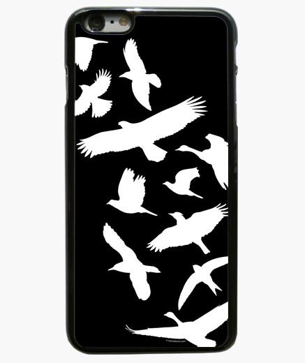 Cover iPhone 6 Plus  / 6S Plus uccelli che volano - bianco