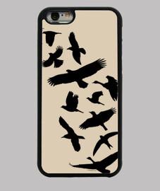 uccelli che volano - nero