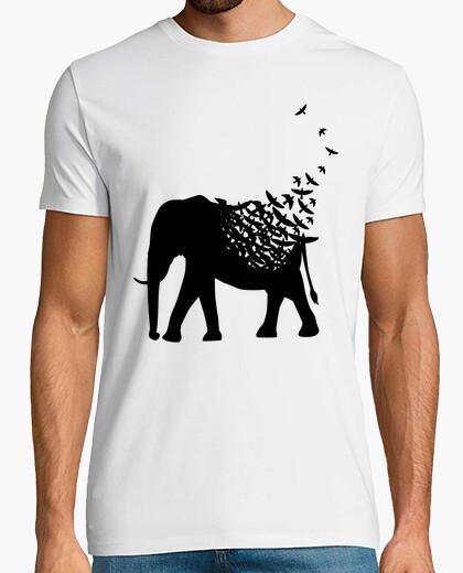 T-shirt uccelli elefanti