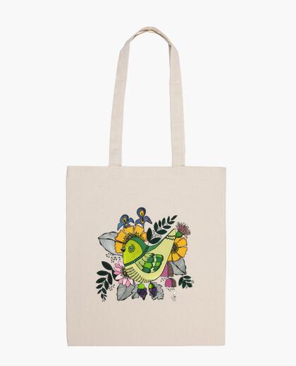 Borsa uccello verde