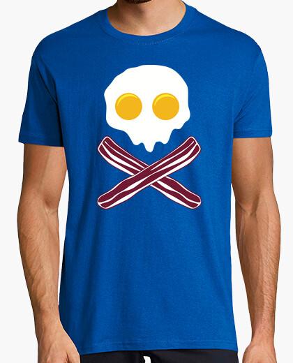 Tee-shirt Œufs et du Bacon (Drapeau Pirate)