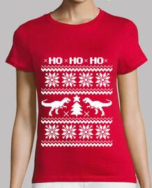 Ugly Dino Tee Navidad Chica