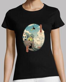 Ukiyo e Delivery Shirt Womens