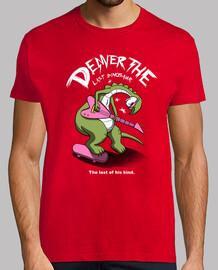 última dinosaurio vs la camiseta mundial para hombre