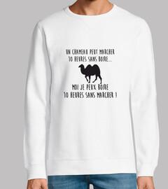 un camello puede caminar 10 horas sin b
