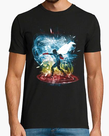 Camiseta un golpe versión de la tormenta-arco iris