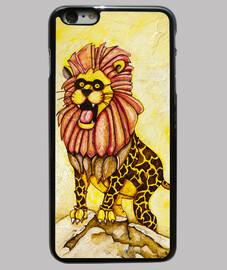 un lion avec le costume de girafe (cas)