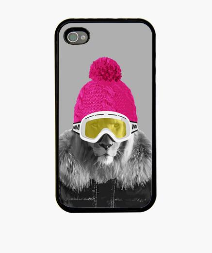 Coque iPhone Un lion en hiver