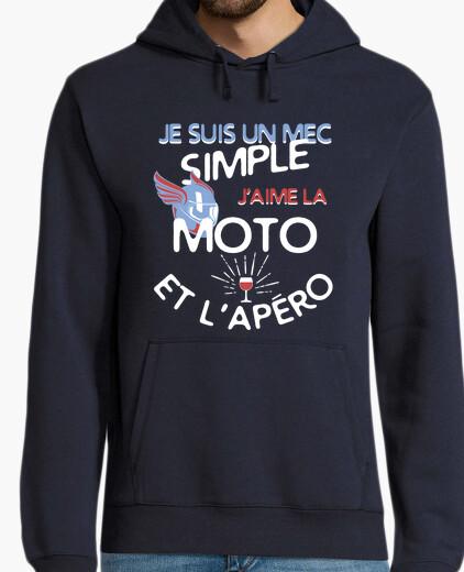 Sweat Un mec simple - Moto