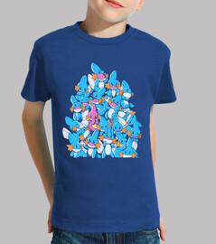 un mucchio di acqua avviatori camicia bambini