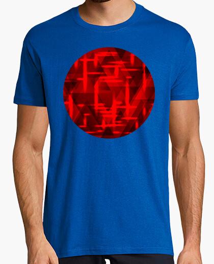 Camiseta Un patrón cuadrado de rectángulos de co