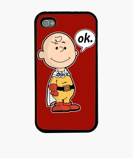 Coque iPhone un poinçon marron