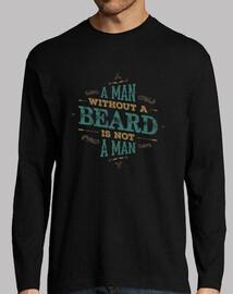 un uomo senza beard non è una manica lunga camicia man man