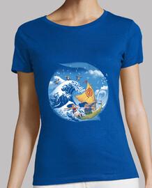 un viaje tropical de la camisa para mujer