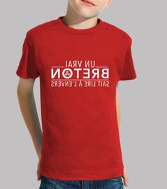 Un vrai Breton sait lire à l'envers - T-shirt enfant